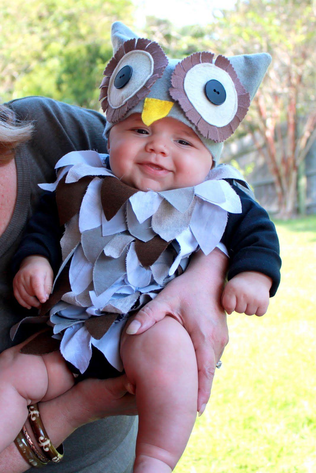 owl costume owl baby costume diyhalloween - Baby Owl Halloween Costumes