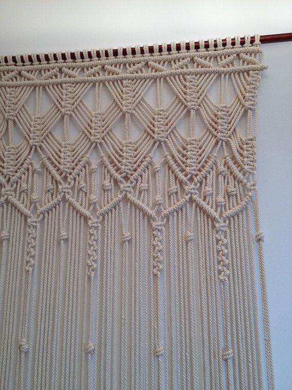 Macrame Curtain Handmade Wall By Mislanascreativas