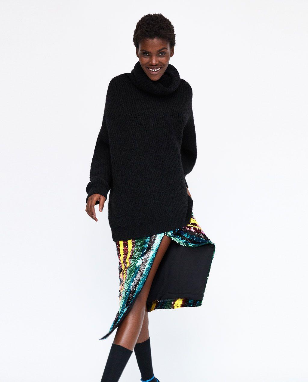 40 € PULL XL AVEC COL ROULÉ de Zara  8c850ebed33