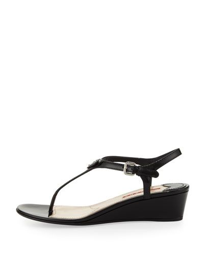 427cdf80f Women s Designer Sandals at Neiman Marcus. Metallic LeatherPatent LeatherDesigner  SandalsWedge SandalsThongsNeiman MarcusWedgesPradaShips