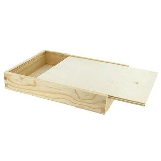 Wood Box With Sliding Lid Hobby Lobby Com 3 99 Plus S H Use For