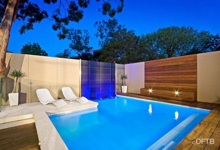 Oftb melbourne landscaping pool design construction - Swimming pool water features perth ...