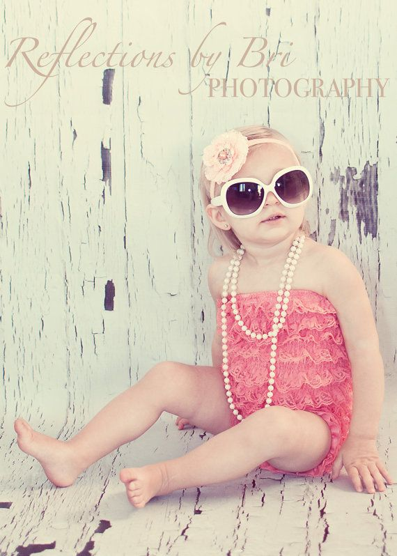 SPECIAL sale Coral Bubble lace petti romper / by Chicabootique, $19.99