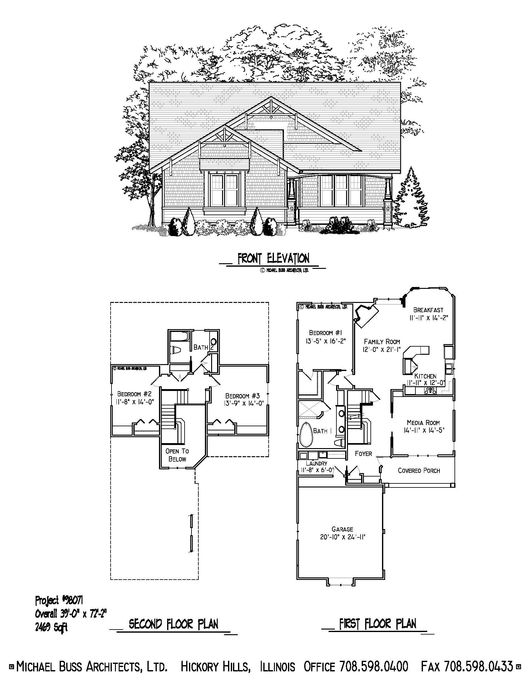 Project 98071 craftsman cottage small home plan infill for Bungalow house plans for narrow lots