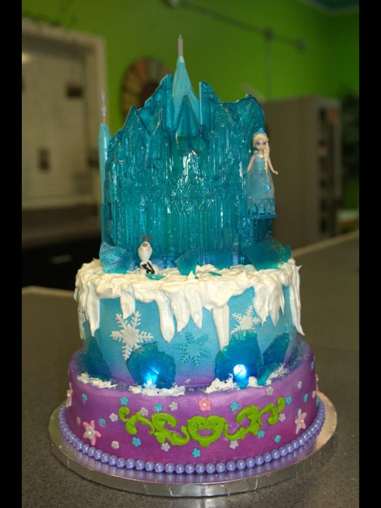 Frozen cake design images  Frozen cake designed from a cake by Linda from