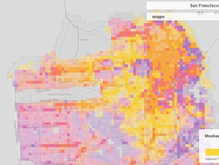 Every Possible Color-Coded Map of San Francisco | San ...