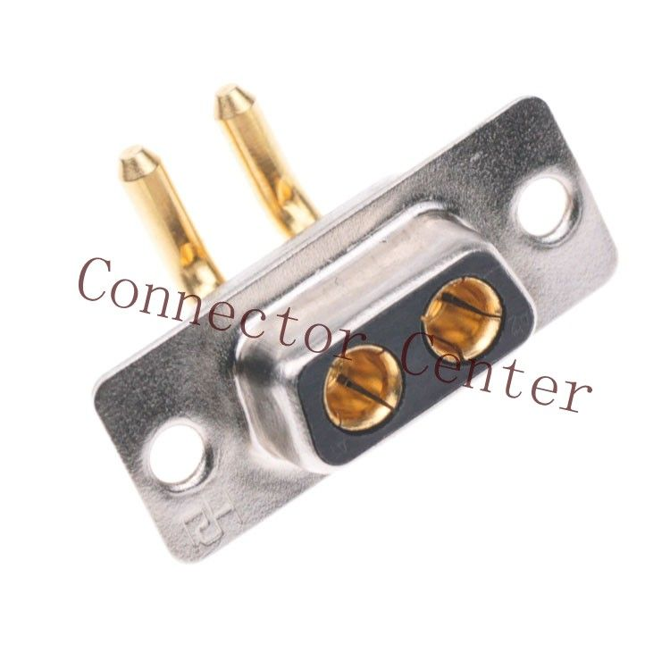 PCB solder large current 2W2 Dsub DB Female Connector 2-pin right ...