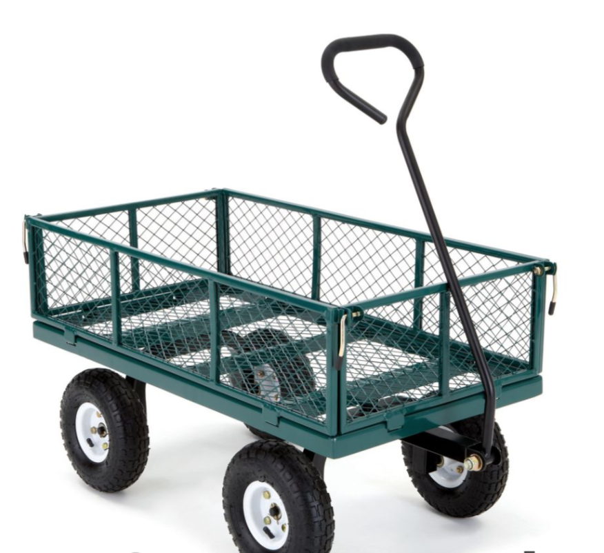This Would Be Perfect Hauling Weeds Branches And Leaves Harvesting It Doesn T Fold Down So Would Take Up Room Garden Cart Garden Tools Wheelbarrow Garden