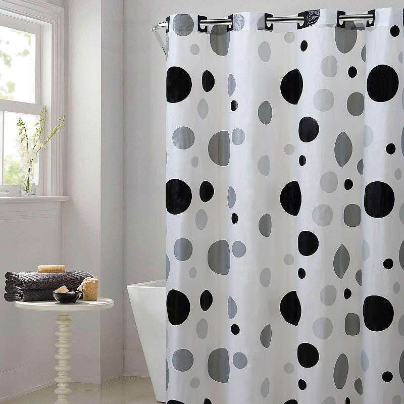 Hookless Peva Retro Dots Hookless Shower Curtain Hookless Shower