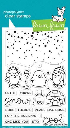 Lawn Fawn Snow Cool is part of lawn Drawing Stamp Sets - 4  Made with care in the USA!