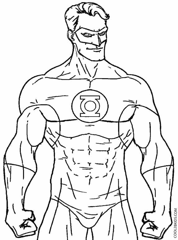 Green Lantern Coloring Pages Superhero Coloring Pages Superhero