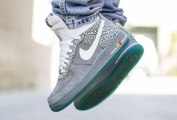 Nike Air Force 1 High ID Cement Mag MC Fly (3) | Nike air