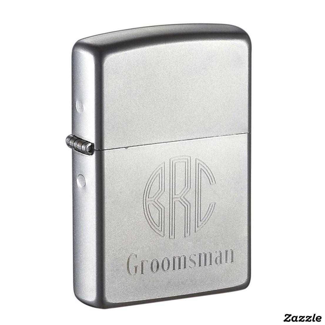 Custom Engraved Groomsman Zippo Lighter  | Zazzle.com #zippo