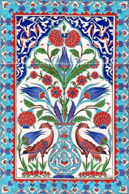Ottoman Traditional Turkish Tiles Art Osmanlı Çini Karo Panoları ...