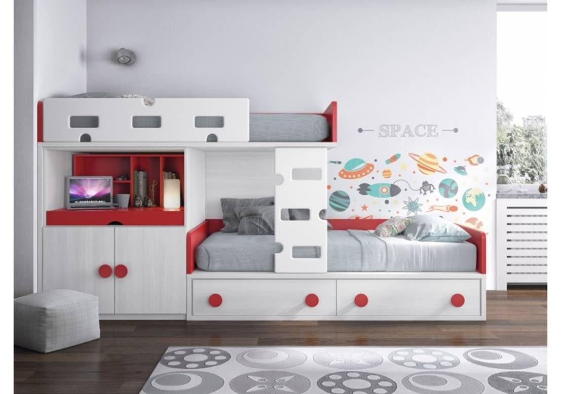 Literas juveniles e infantiles modernas muebles dormitorios juveniles camas y dormitorios - Habitacion infantil tren ...
