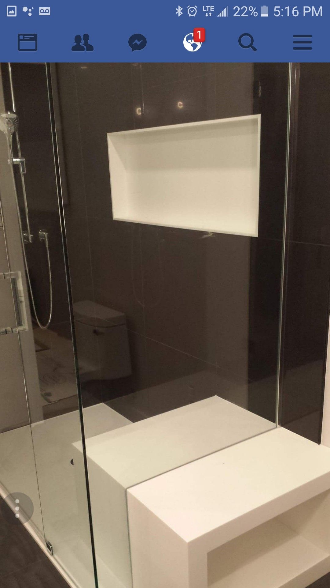 Custom Made Staron Bright White Curbless Shower Base With Inner And Outer  Seat With Integrated Product