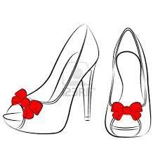 Risultati immagini per disegni scarpe con il tacco