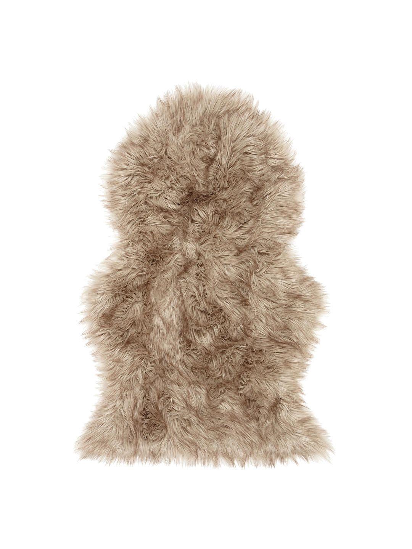 John Lewis & Partners Faux Fur Sheepskin Rug, Grey Tip