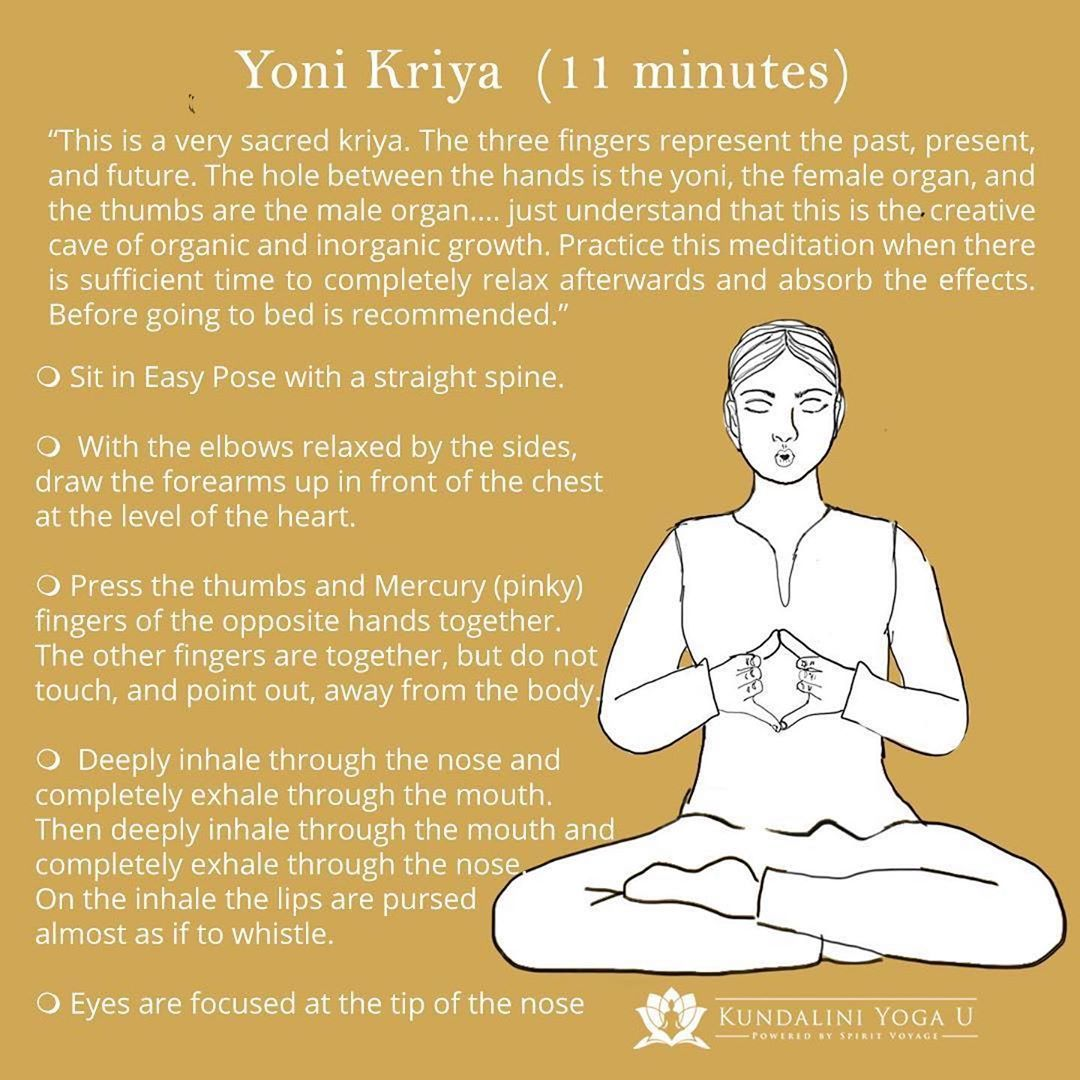"Spirit Voyage on Instagram: ""Yoni Kriya. – #Reposting this powerful kriya from @kundaliniyogau in honor of #InternationalWomensDay ・・・ Yoni Kriya was taught by Yogi…"""