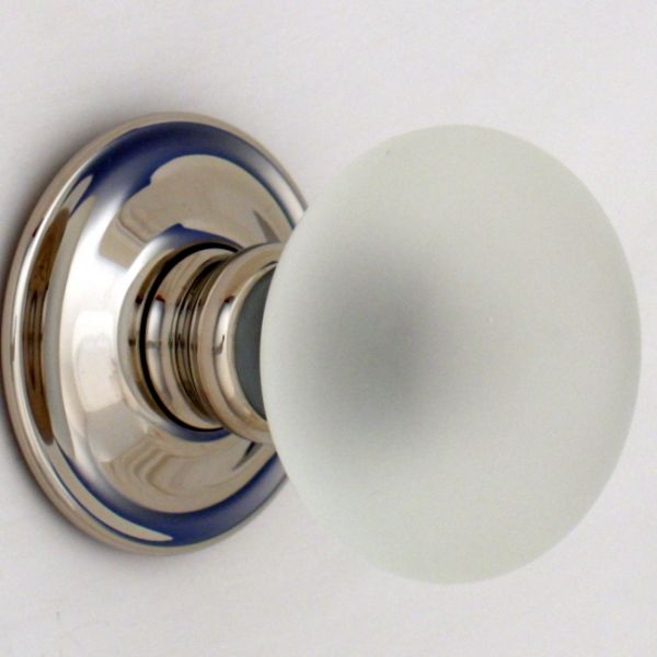 Smooth Glass Door Knobs Nickel Backs Handmade In England By Our Master Maker Design Several Lovely Colours With A