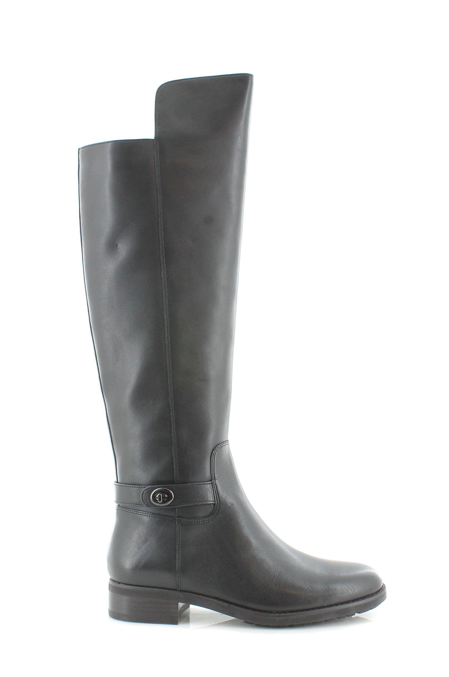 4ed6ccc40bf COACH Womens Emmie Black Semi Matte Calf Boot 8.5 M >>> You can get ...