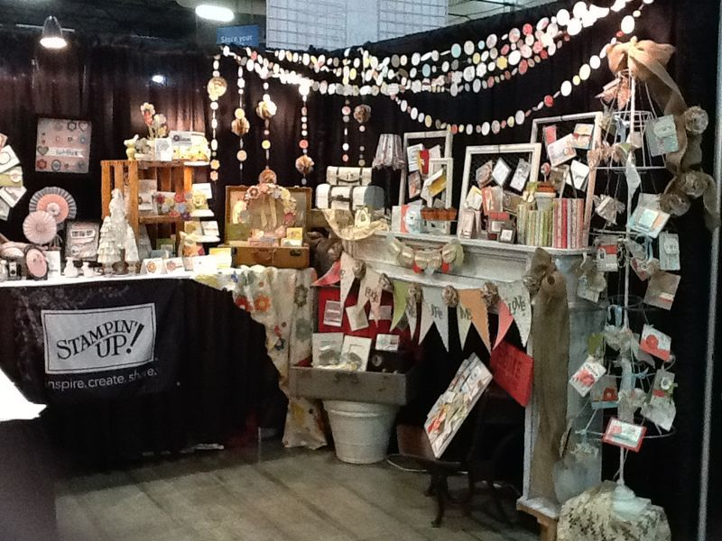 Stampin Up Booth At The Pleasanton Scrapbook Expo Scrapbook Expo