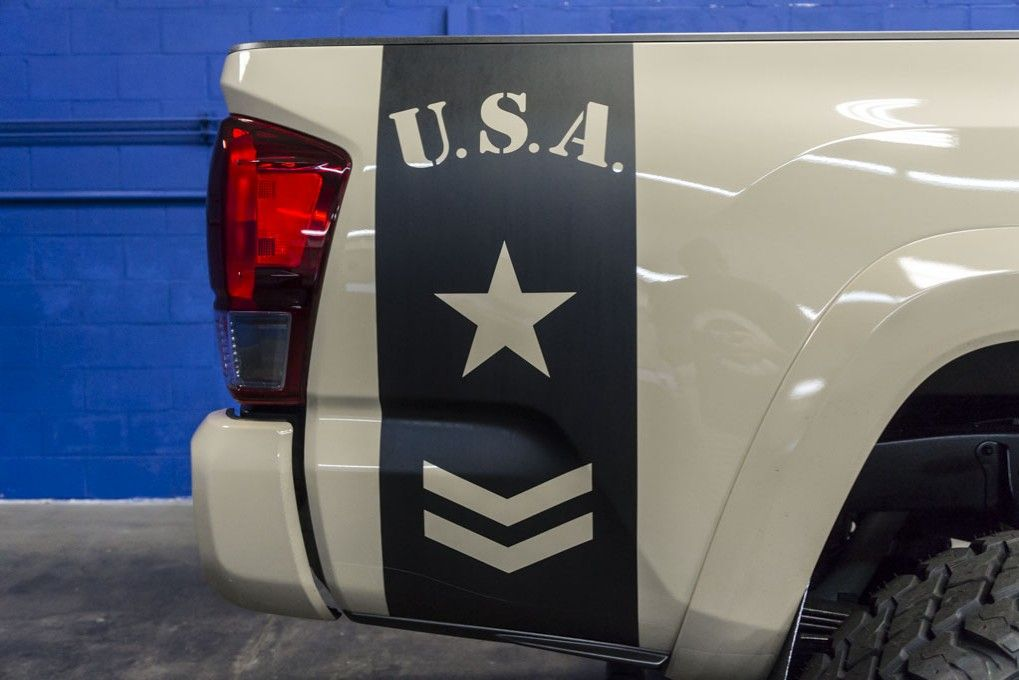 Lifted Toyota Tacoma X Tacoma Decals Pinterest Toyota - Truck bed decals custom