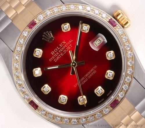 Rolex Men Datejust 2 Tone 18k-Red Vignette Diamond Dial-Ruby Diamond Bezel 36mm https://t.co/qdo32c6Kk6 https://t.co/0ryiCPnJDN