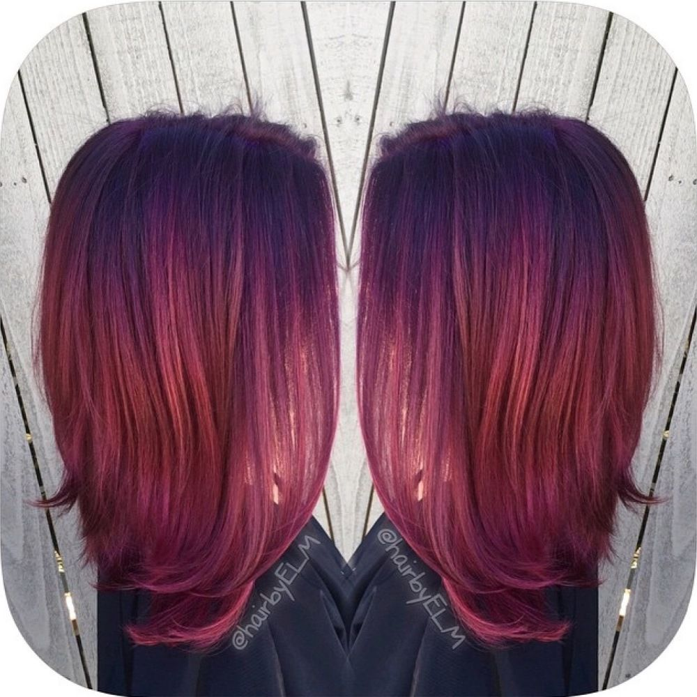 Inspiration discovered by efoxx HAIR. Deep violet to ...