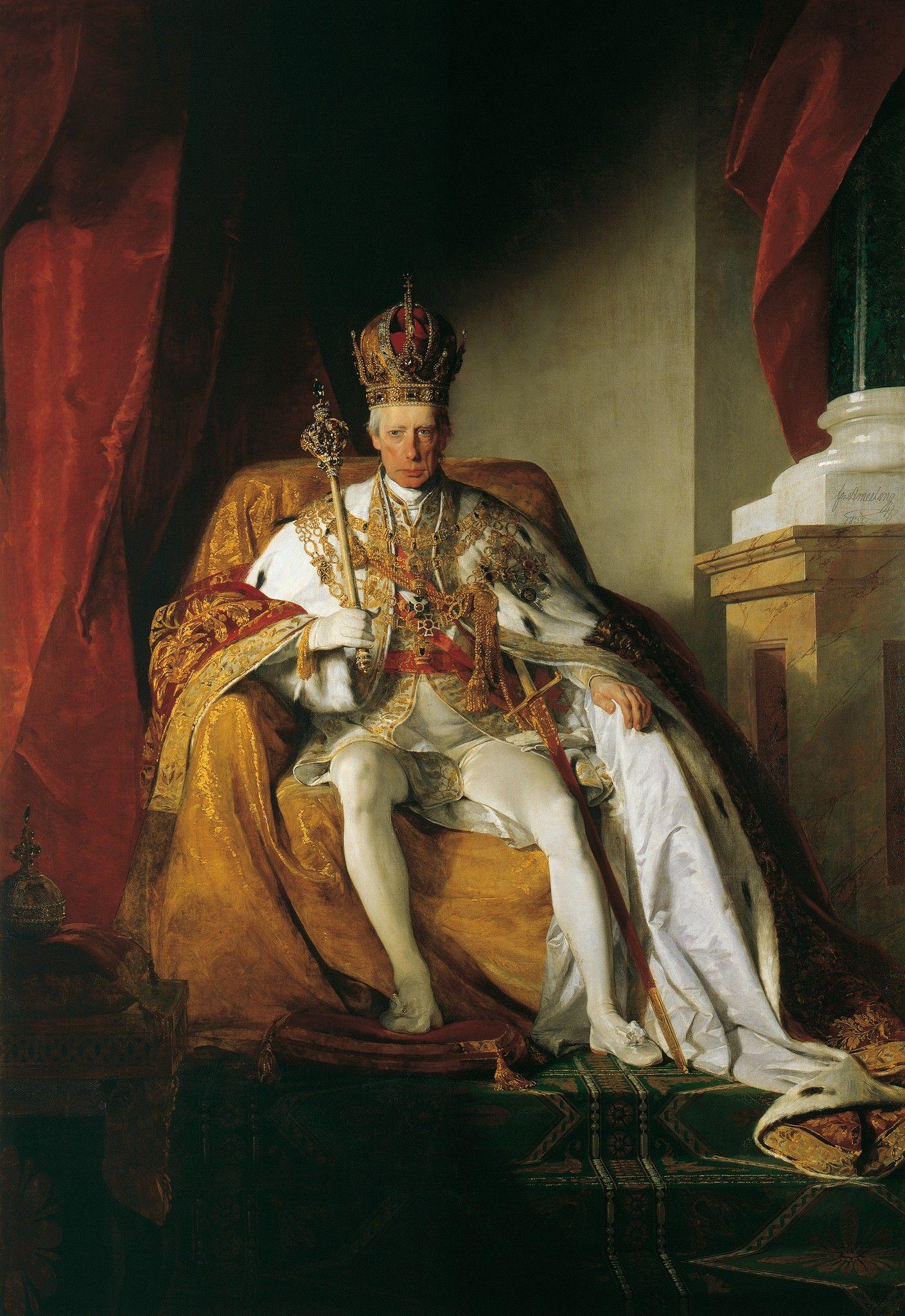 THE LAST HOLY ROMAN EMPIRE EMPEROR FRANCIS II 2 PAINTING ROME ART CANVAS PRINT