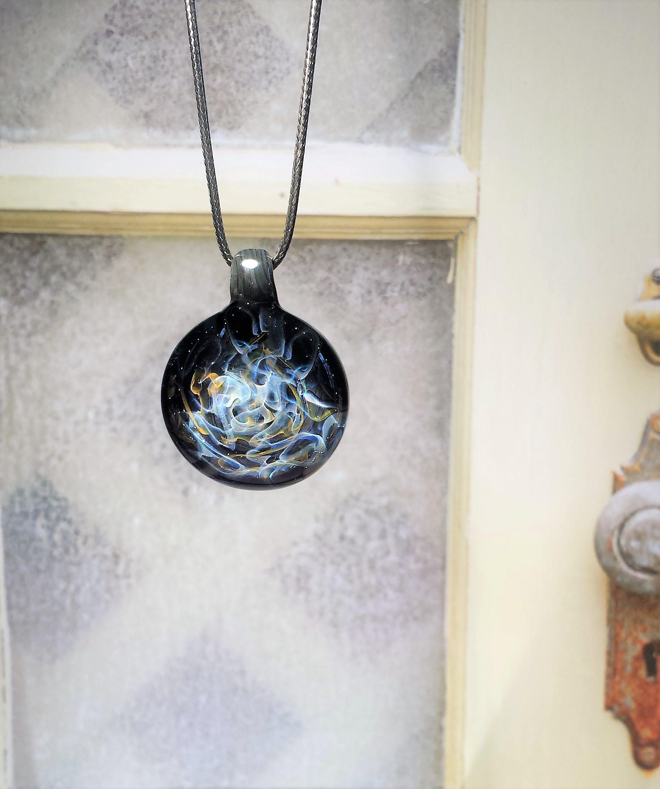 Heady Glass Pendant Necklace Galaxy Gift For Her Glass Pendant