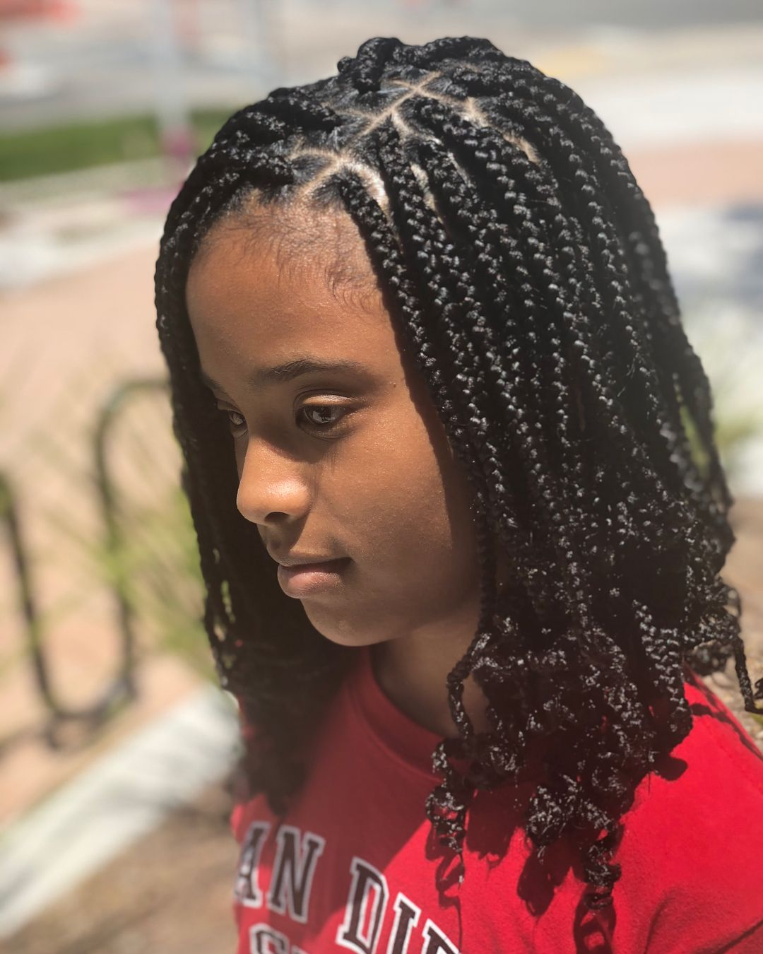 protective style • box braids lasts • 4-6 weeks (with proper
