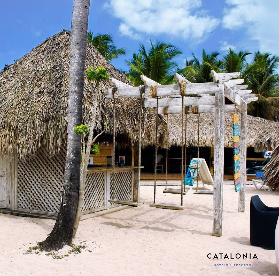 Do you want to swing here?    # beach #relax #CataloniaHotels #DisfrutandoCatalonia #caribbean #cocktails #travel #happiness #GranDominicus #palm #lifestyle #vacaciones #blue #beautiful #ocean #sun #CataloniaHotels #Bayahibe