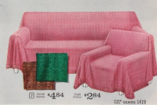 1960s pink couch sofa cover