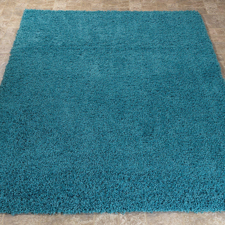 Amazon.com: Ottomanson Soft Cozy Solid Color Shag Rug Contemporary ...