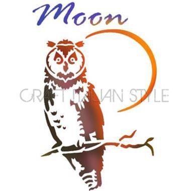 Pochoir D 20x15 cm Moon