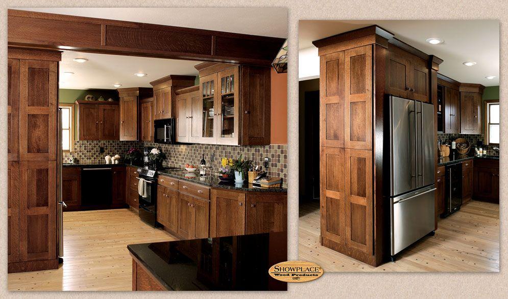 The Showplace Gallery Mission Style Kitchens White Oak Kitchen Kitchen Inspiration Design