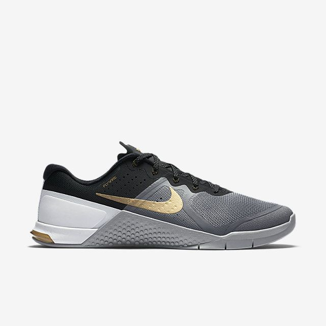 Nike Metcon 2 Men's Training Shoe. Nike.com 8.5 black/gray/gold