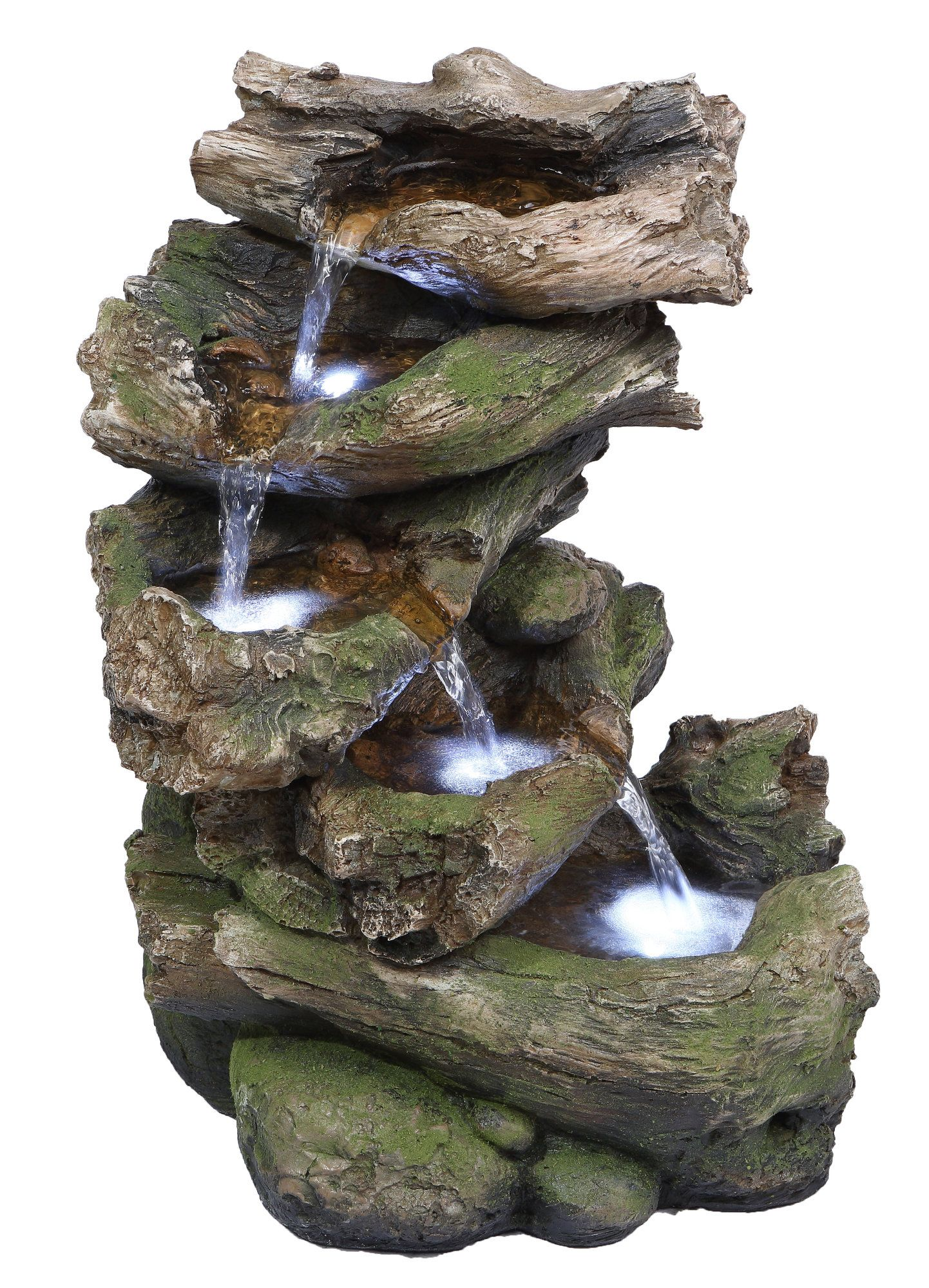 Multi Level Branch Fountain With Led Lights Garden Fountain