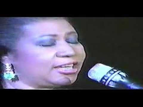 Aretha Franklin Bridge Over Troubled Water Early 90s Youtube