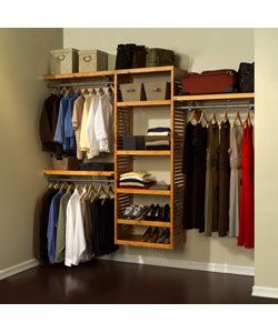 John Louis Home Collection Honey Maple 12 Inch Deep Simplicity Closet  System By John Louis