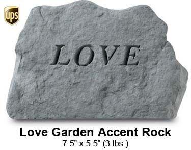Love Garden Accent Rock