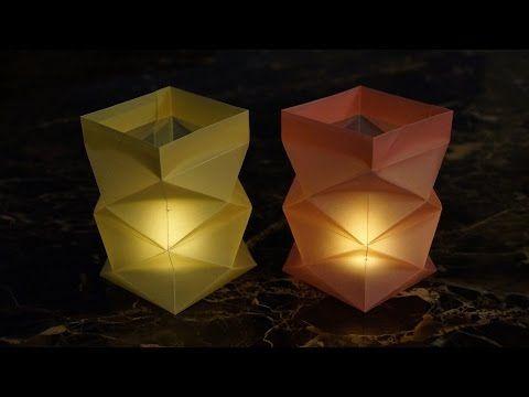 knickwindlicht f r teelichter aus papier basteln. Black Bedroom Furniture Sets. Home Design Ideas