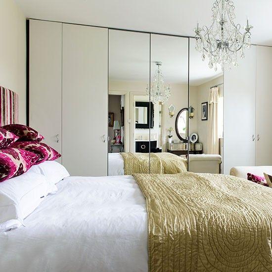 Weiß Schlafzimmer mit Spiegelschrank Wohnideen Living Ideas - wohnideen schlafzimmer