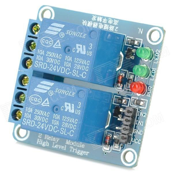 FC-16-F 2-Channel 24V Relay Module - Blue  Model FC-16-F