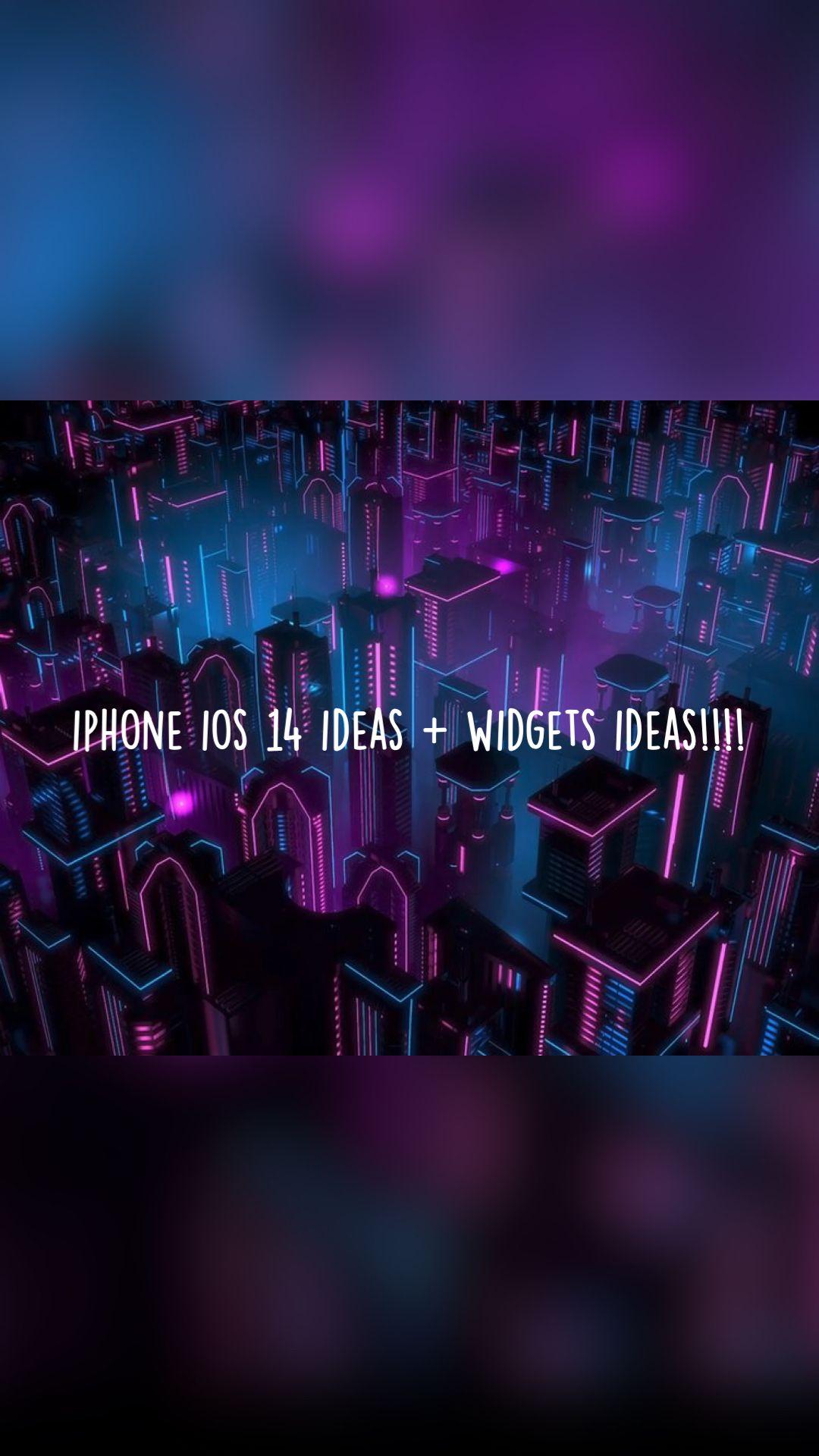 iphone ios 14 ideas + widgets ideas!!!!