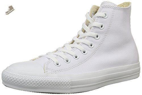 b9f37578774e5 Converse Chuck Taylor Hi Top Leather White Monochrome 1T406 Mens 5 ...