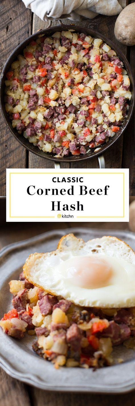 Classic Corned Beef Hash Recipe Corned Beef Hash Corned Beef Food