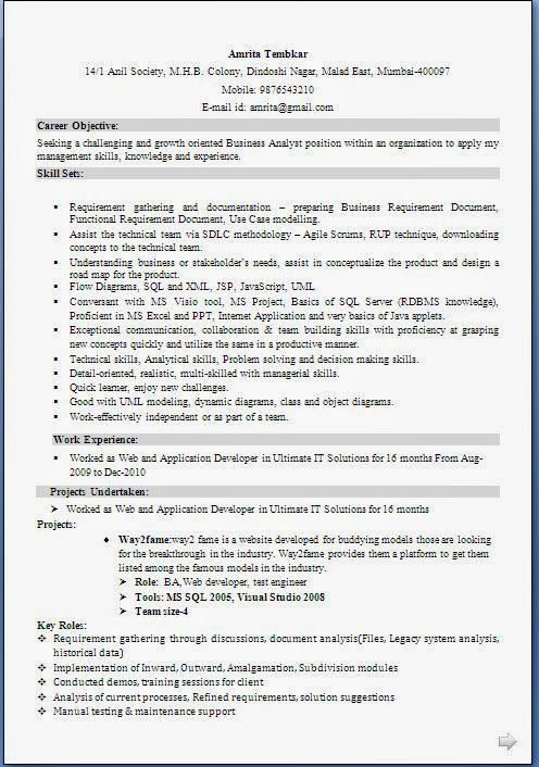 best objective for resume Sample Template Example ofExcellent - business analyst skills resume