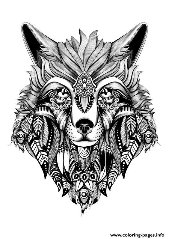 Print premium wolf adult hd high quality coloring pages | Various ...